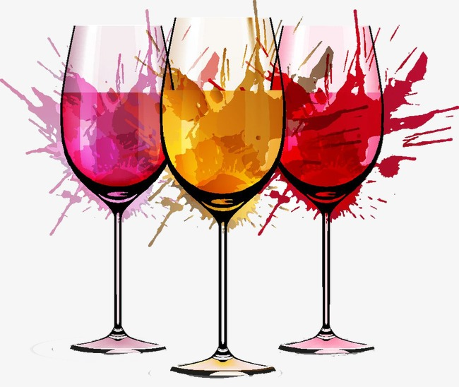 Vector wine image color. Champaign clipart splash