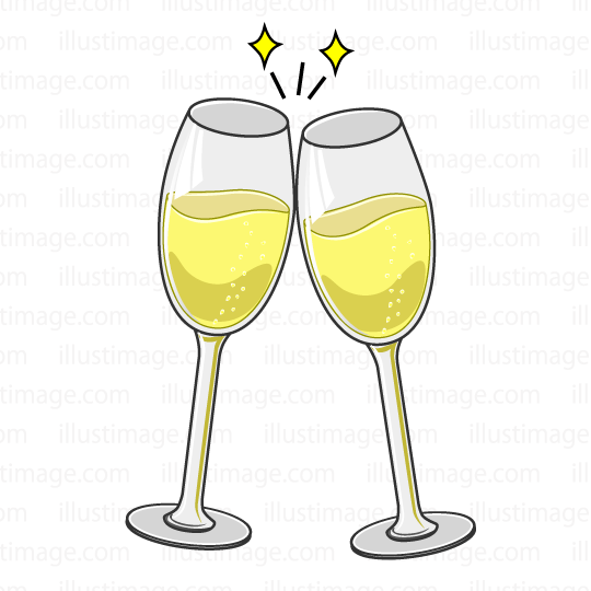 Champaign clipart toasting glass. Free toast with champagne