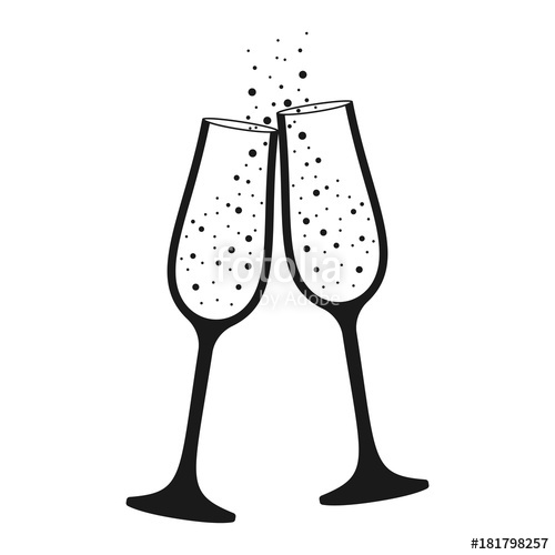 Champagne glass isolated icon. Champaign clipart vector