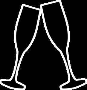 Champagne glass blk whte. Champaign clipart vector