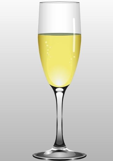 Champaign clipart vector. Glass of champagne clip