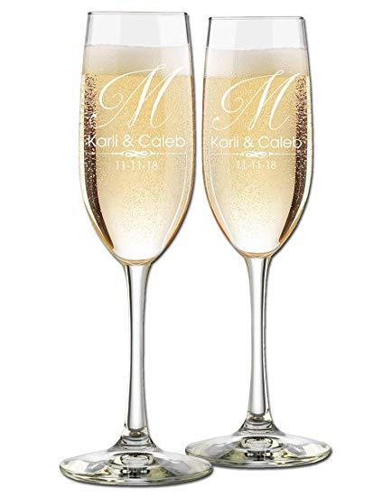 Champaign clipart wedding. Custom champagne flutes set