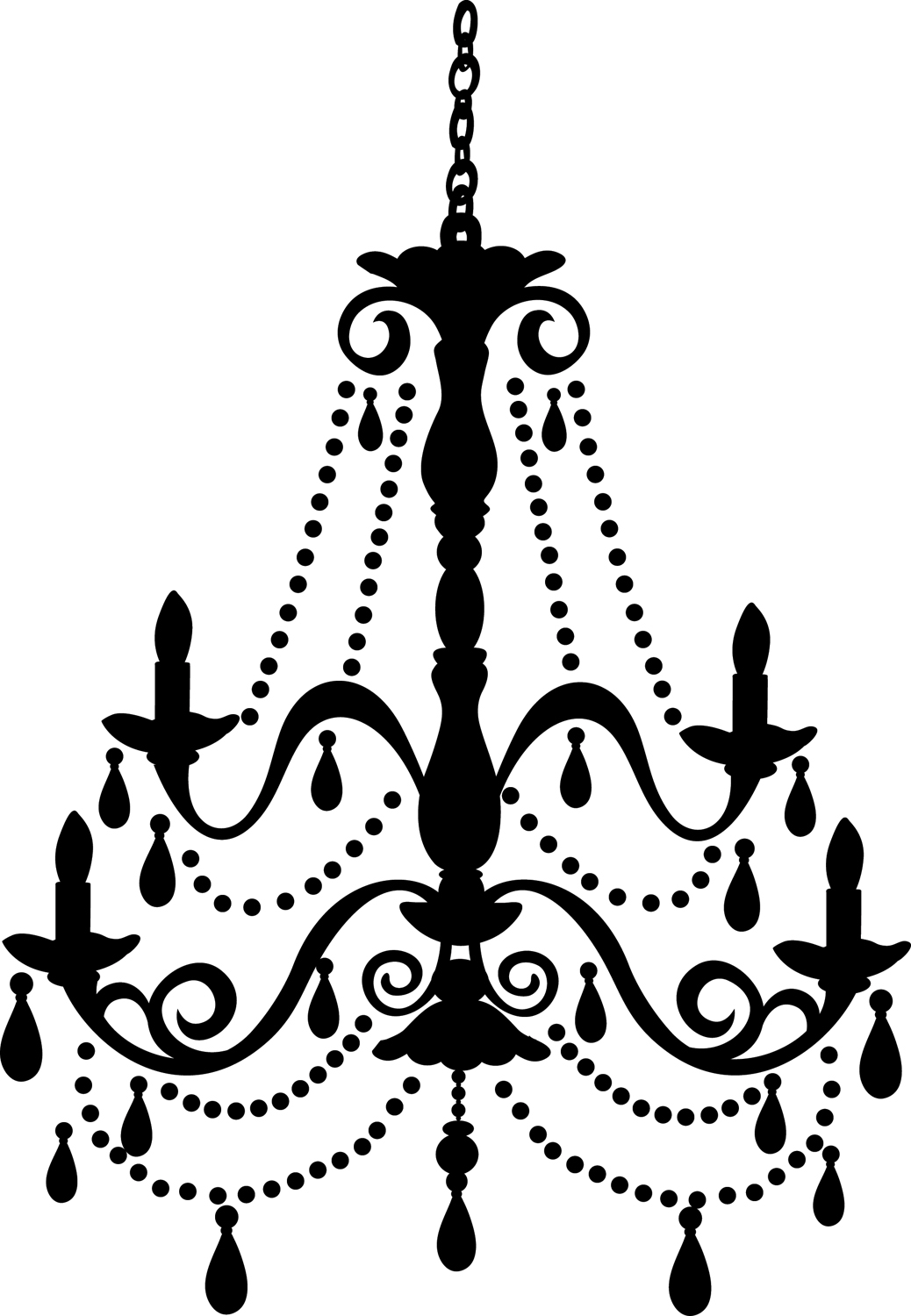 Chandelier clipart. Free old cliparts download