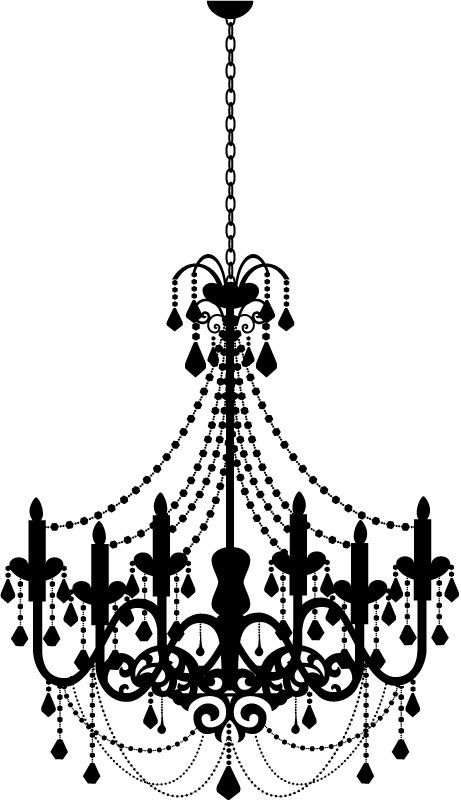 Wall decal kid in. Chandelier clipart