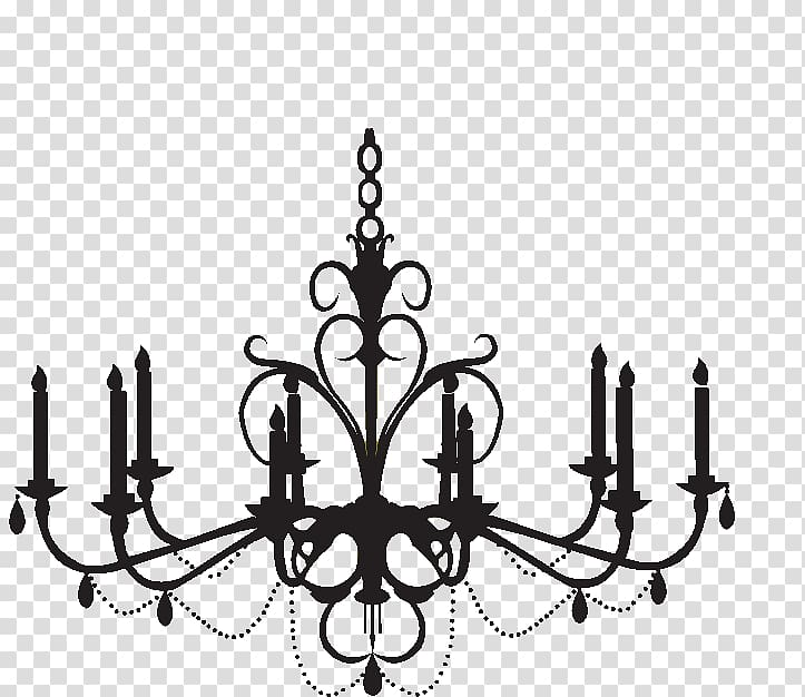 Uplight illustration wall decal. Chandelier clipart