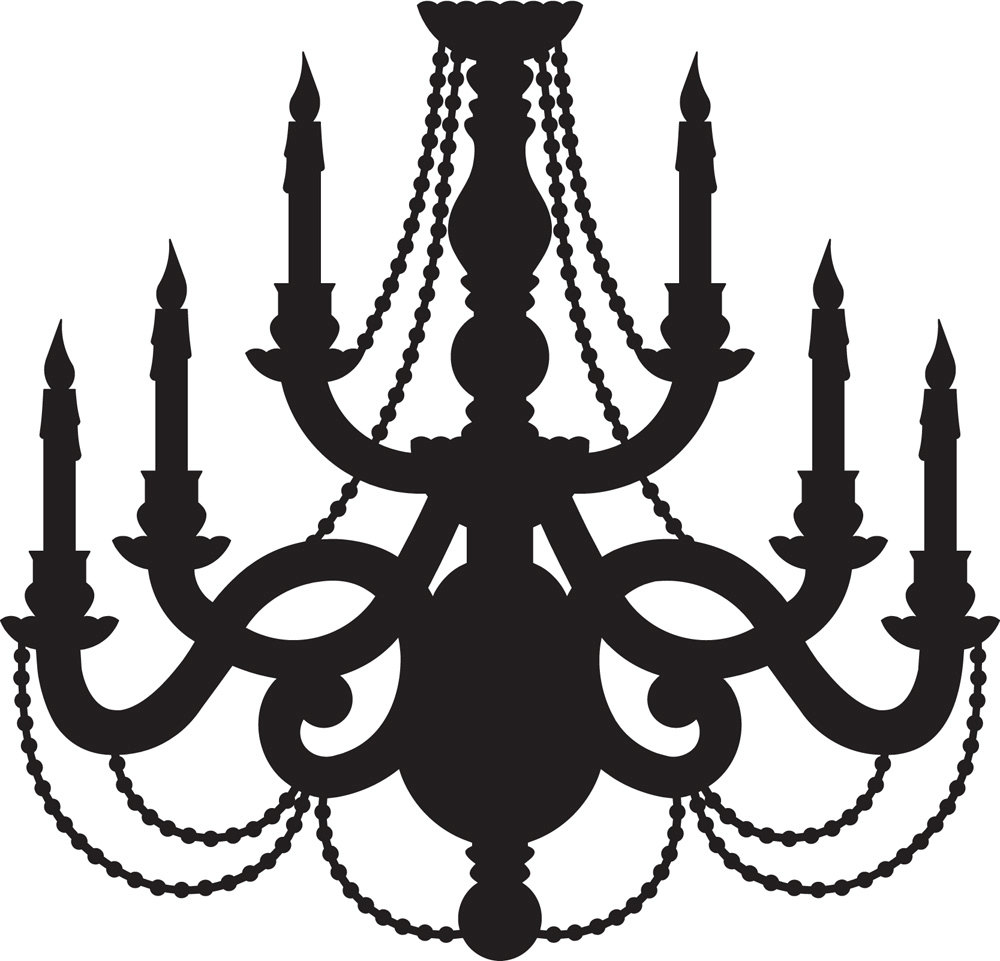 Chandelier clipart baroque. Silhouette free collection download