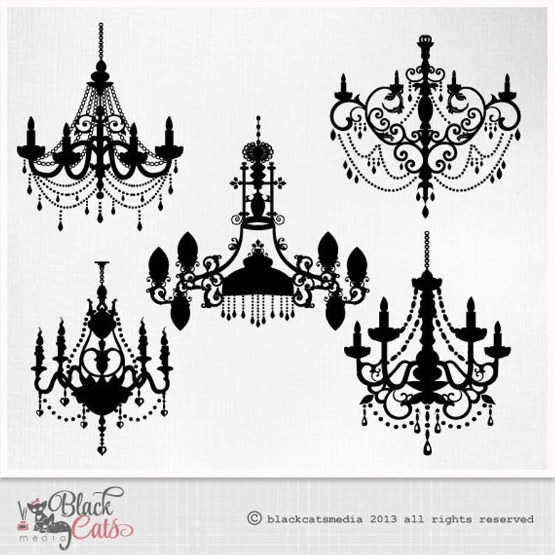 Chandelier clipart baroque. Ornamental decorative clip art