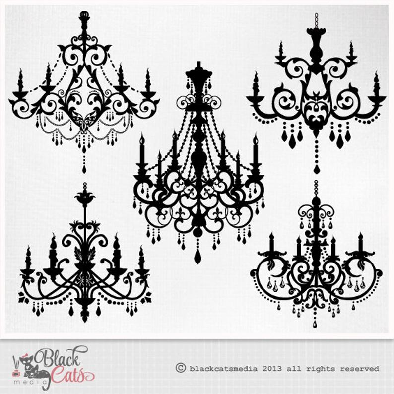 Ornamental decorative eps png. Chandelier clipart baroque