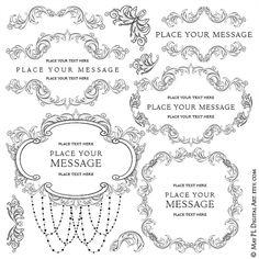 Chandelier clipart border. Floral scroll wedding elegance