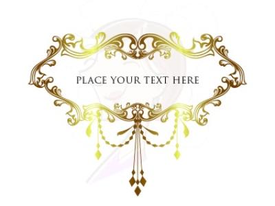 Chandelier clipart gold chandelier. Heritage style frames clip