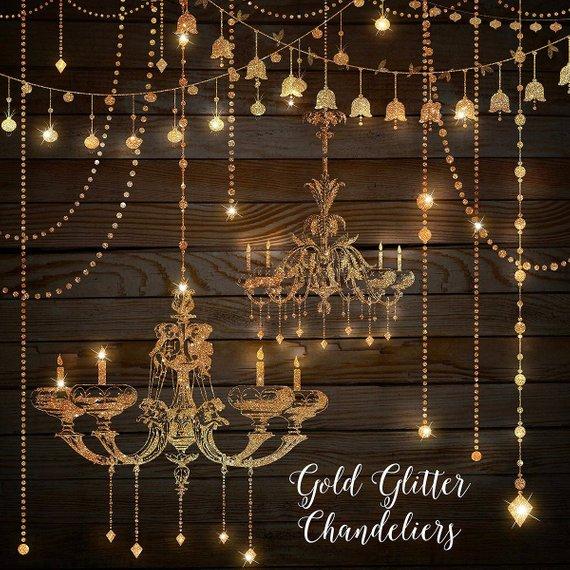 Glitter chandeliers clip art. Chandelier clipart gold chandelier