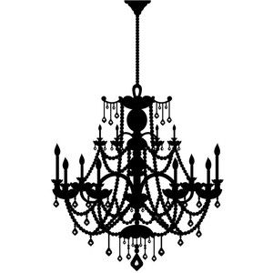 Chandelier clipart transparent background. Black and white furniture