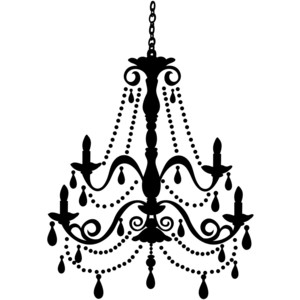 Pencil and in color. Chandelier clipart transparent background