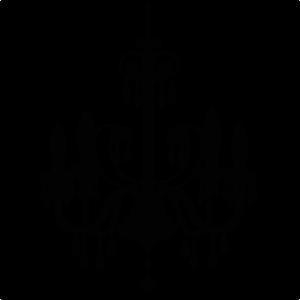 Chandelier clipart transparent background. Svg file for scrapbooking