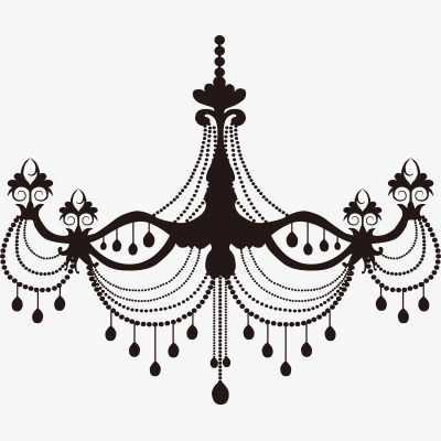European chandeliers silhouette png. Chandelier clipart transparent background