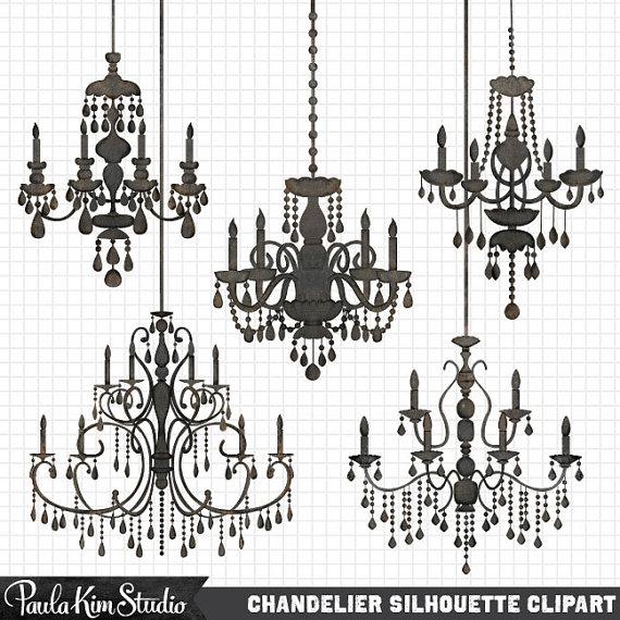Chandelier clipart wedding. Silhouettes silhouette clip art