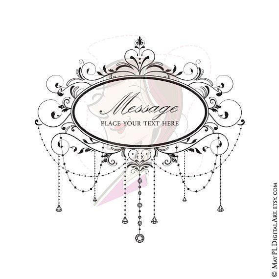 Digital frame elegant classic. Chandelier clipart wedding