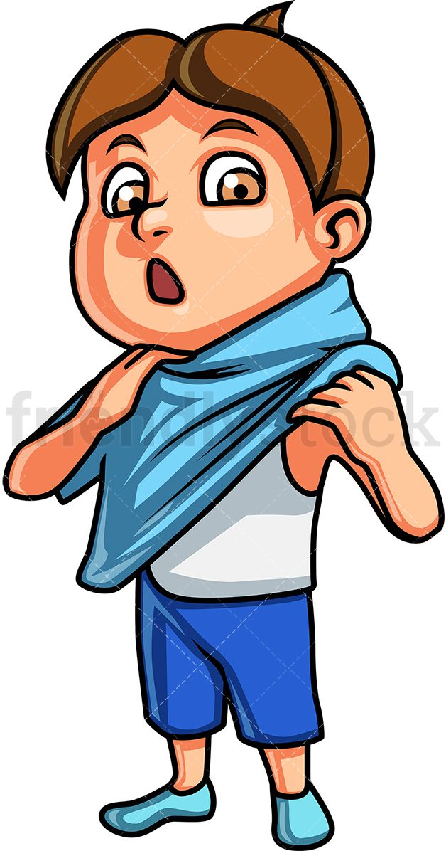 Little boy changing clothes. Chin clipart kid