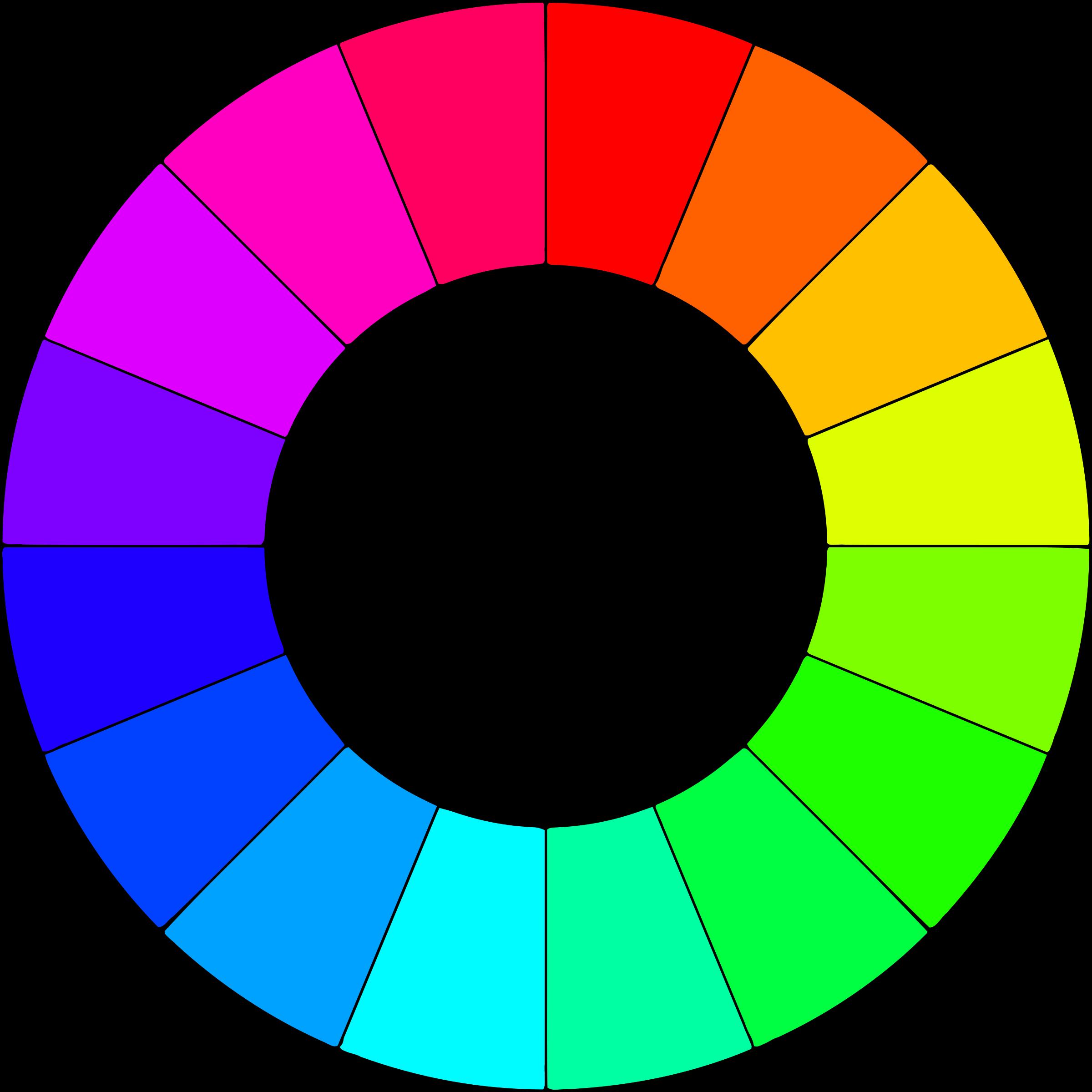 Circle clipart colored. Color wheel colors big