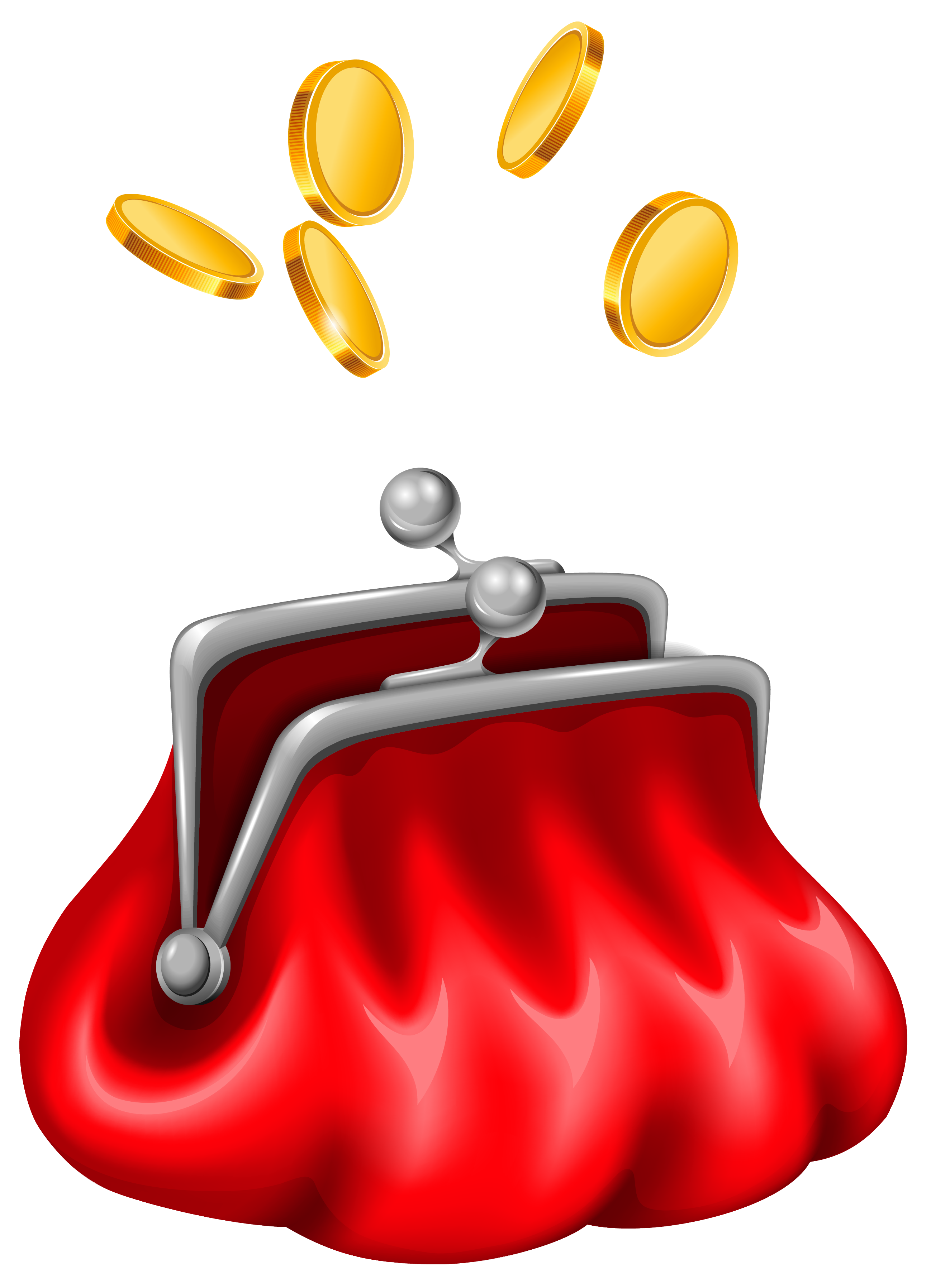 Luggage clipart animated. Purse with coins gallery