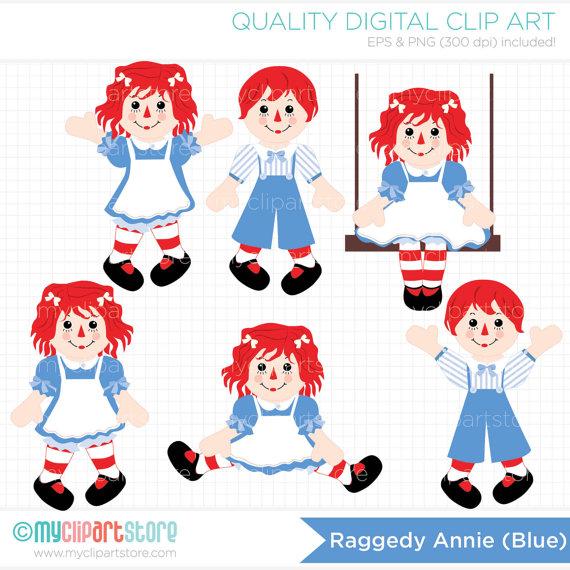 Raggedy rag doll clip. Character clipart annie