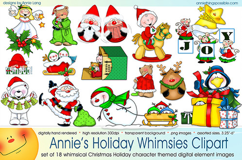 Holiday whimsies things possible. Character clipart annie