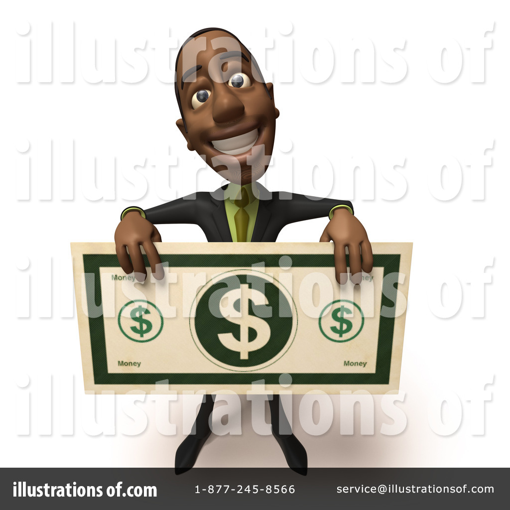 Character clipart business man. Black businessman illustration by