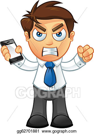 Eps illustration angry with. Character clipart business man