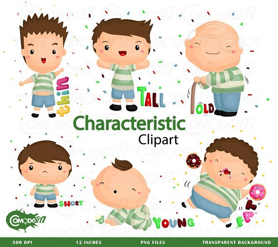 Character clipart characteristic. Commercial use vector graphic