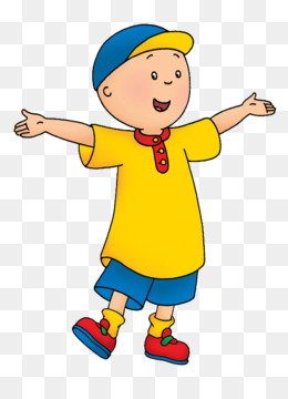 Character clipart children's. Caillou png and psd