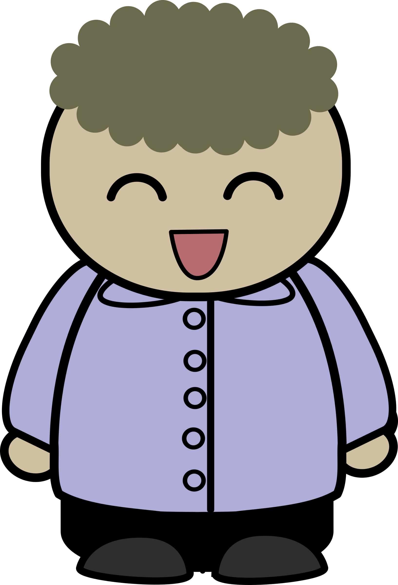 Character clipart clip art. Mix and match brad