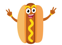 Hotdog clipart. Free clip art pictures