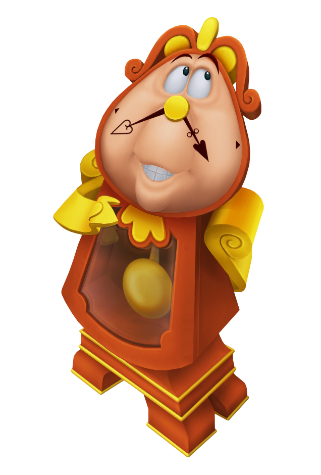 Beauty and the beast. Character clipart clock