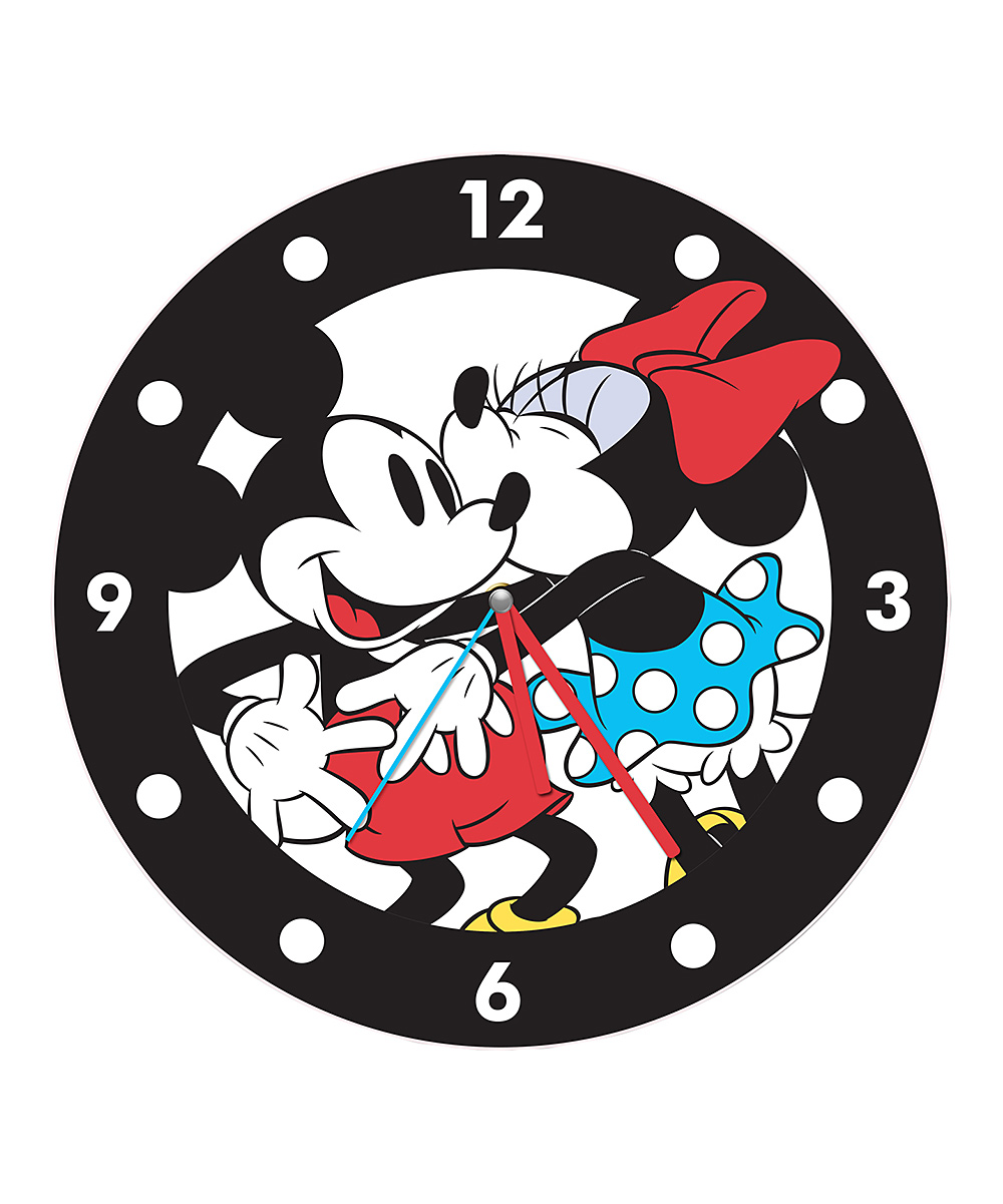 Character clipart clock. Mickey pencil and in