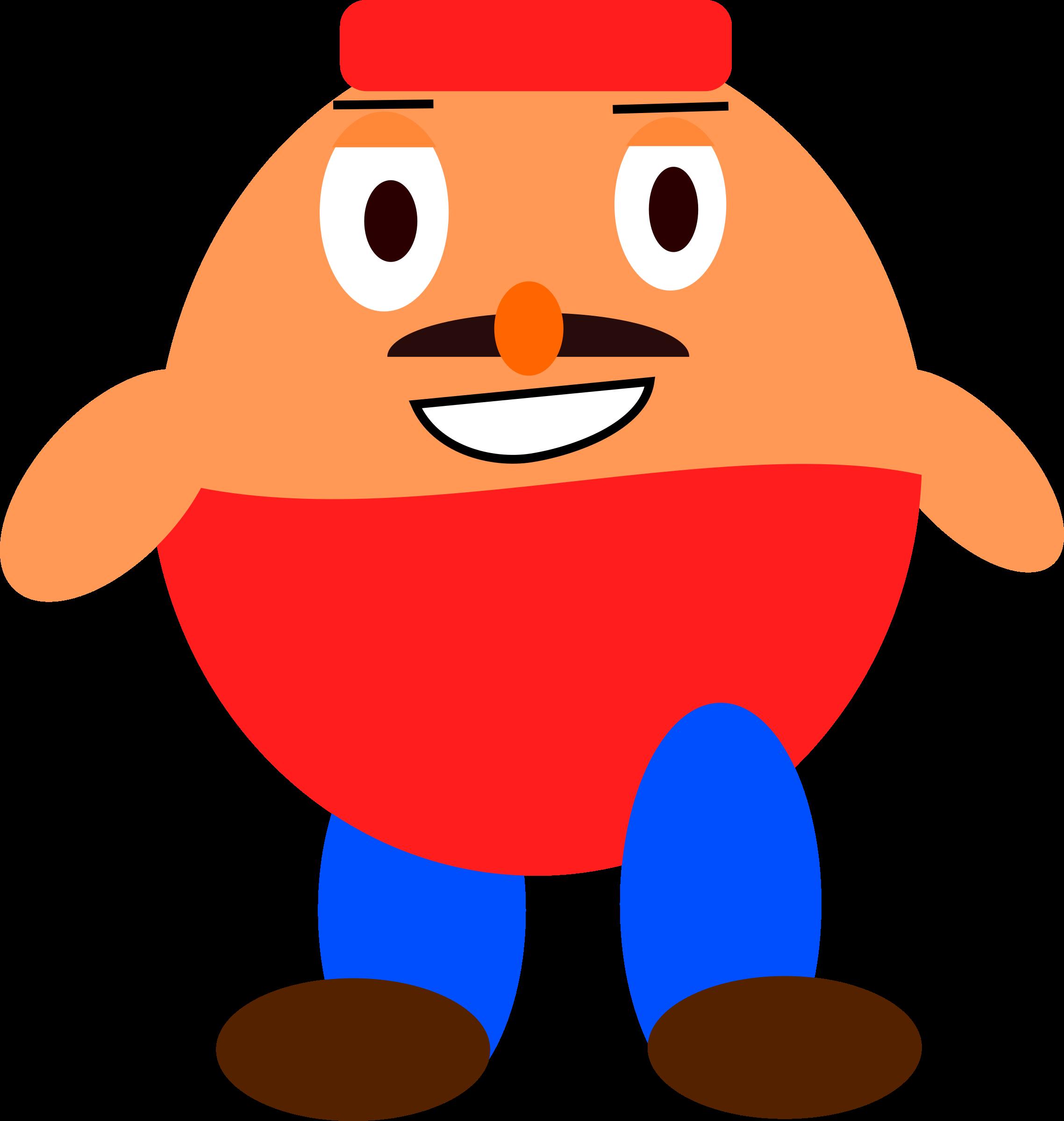 Character clipart cute. Platformer game big image