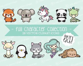 Character clipart cute. Etsy premium vector full