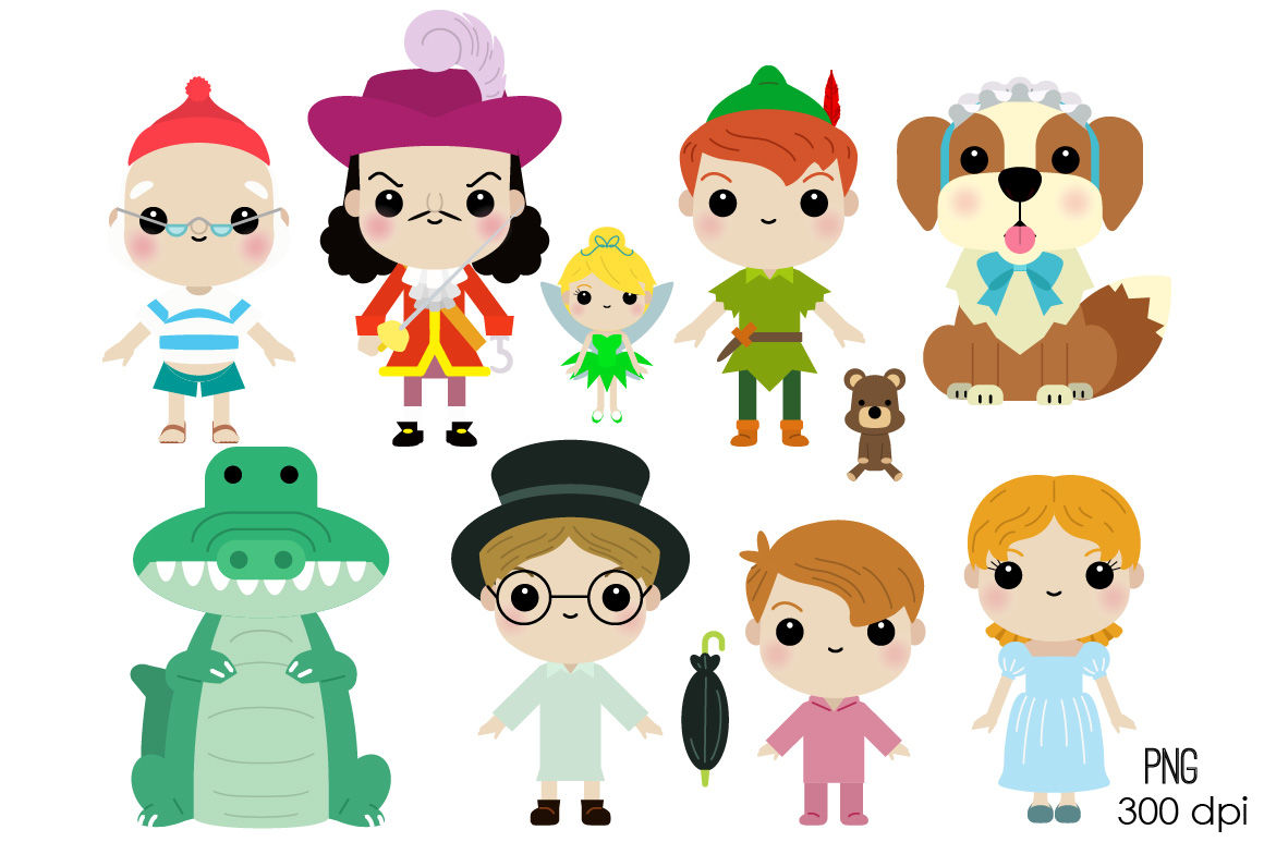 Peter pan characters by. Character clipart cute