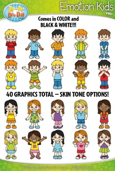 Characters clipart emotion. Emotions kid zip a