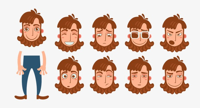 Characters clipart emotion. Character expressions image cartoon