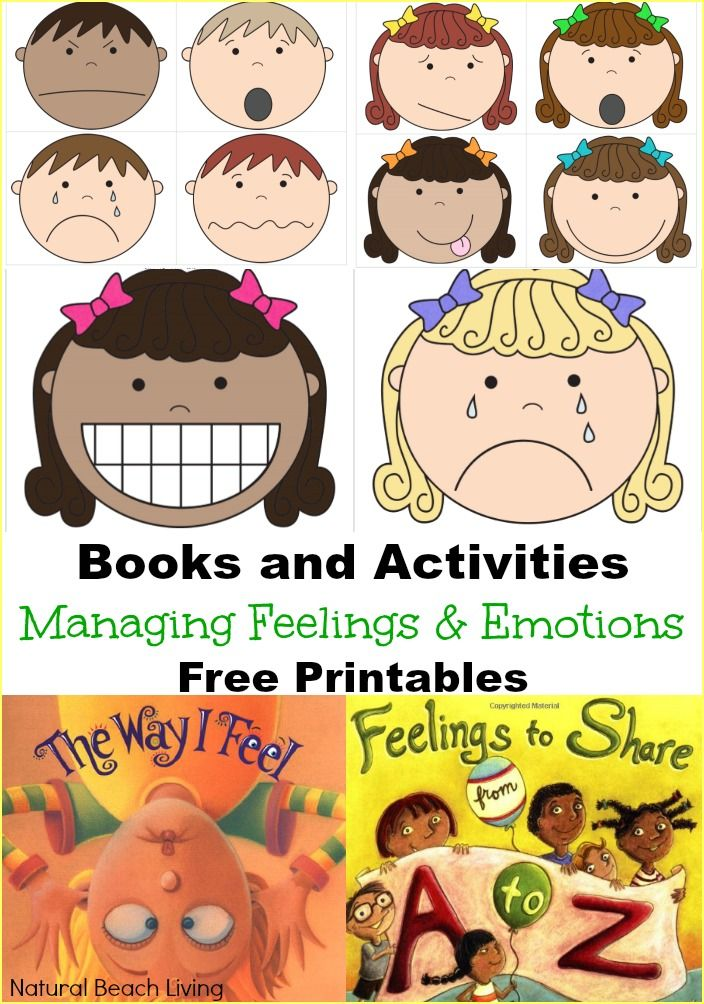Cards for managing feelings. Worry clipart visual