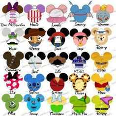 Choose your mouse head. Character clipart family