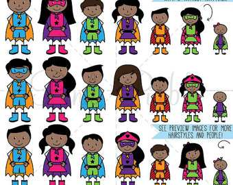 Stick figure etsy african. Character clipart family
