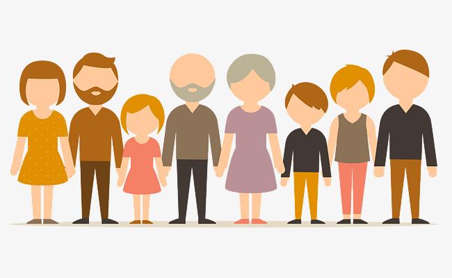 Character clipart family. Cartoon figures big png