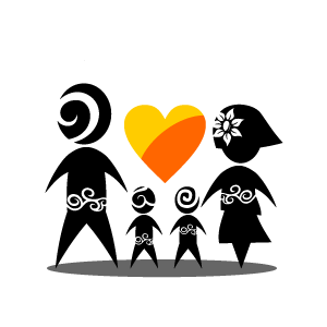 Character clipart family. Heart orange of with
