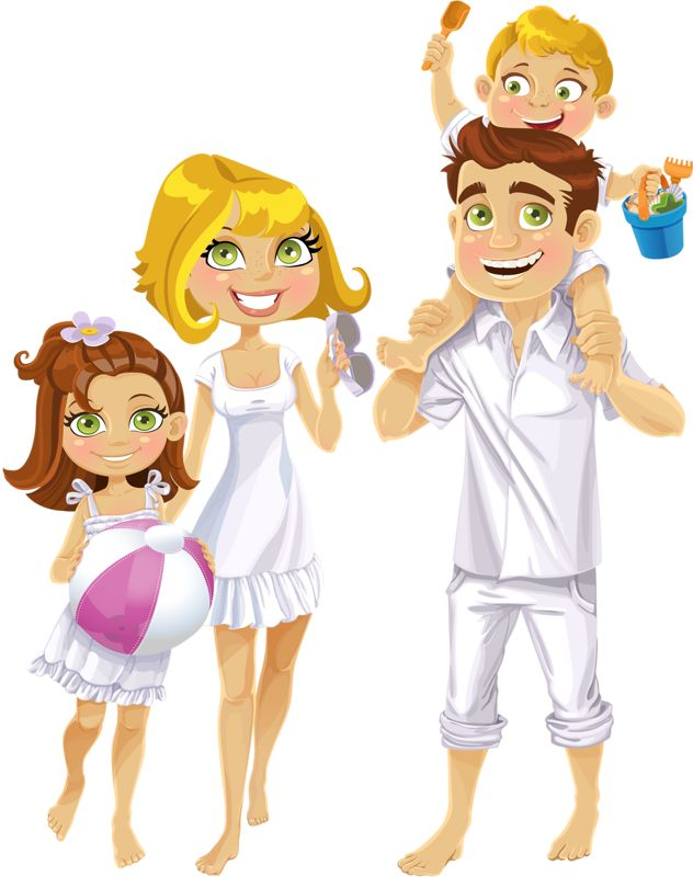 Character clipart family.  best dia familia