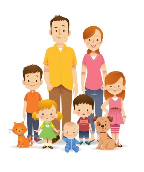 Jerrod maruyama kindergarten design. Character clipart family