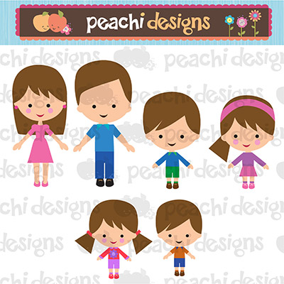 Characters set product. Character clipart family