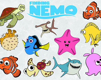 Nemo etsy svg cut. Character clipart finding dory