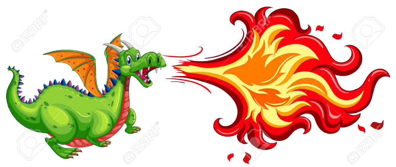 Character clipart flame.  collection of dragon