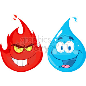 Character clipart flame. Royalty free rf illustration